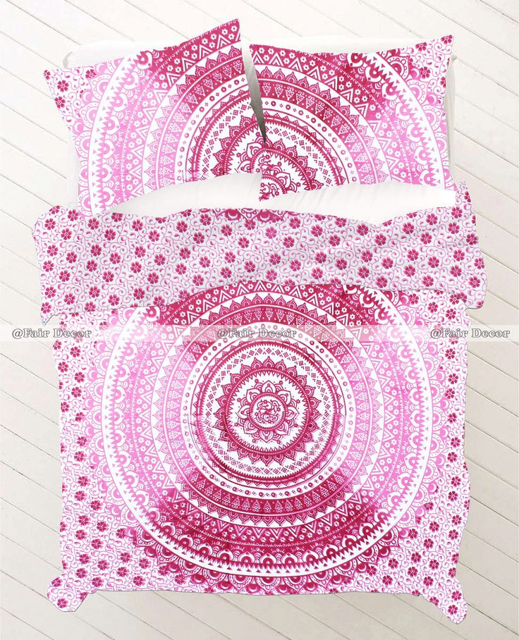 pink purple floral hippie twin roundie bed sheet with pillowcases price 24 usd 100 cotton