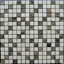 "3/4""x3/4"" Mix Marble Mosaic Tumbled Marble Tile"