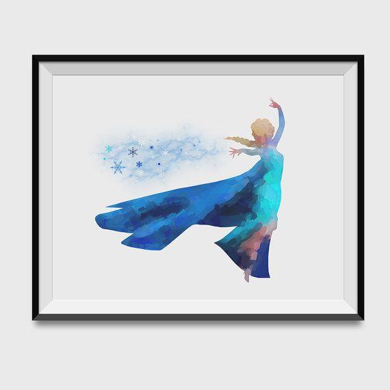 PRINCESS ELSA art print Frozen art print by FunkiMunki4Kidz