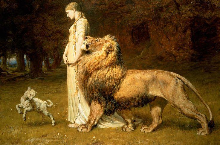UMA AND LION - Briton Riviere