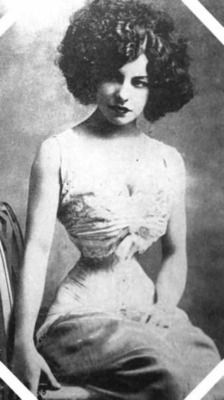 Polaire was the stage name used by French singer and actress Émilie Marie Bouchaud (May 14, 1874 – October 14, 1939).  She was a tightlacer whose corsetted waist was usually no greater than 14 inches.