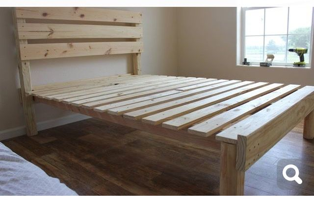 Pin By Navy Moni On Desi Homemade Bed Frame Simple Bed Frame
