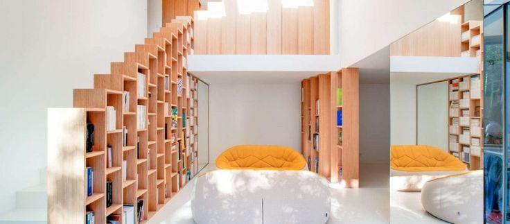 Gleaming Bookshelf House in Paris Stores Creativity