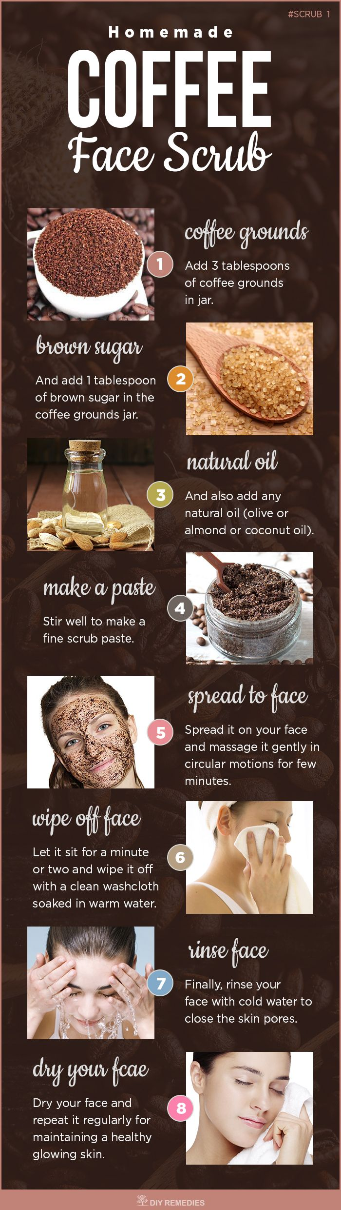 Homemade Natural Face Coffee Scrub