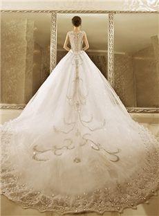 Floor-Length All Sizes Ball Gown Tulle Wedding Dress