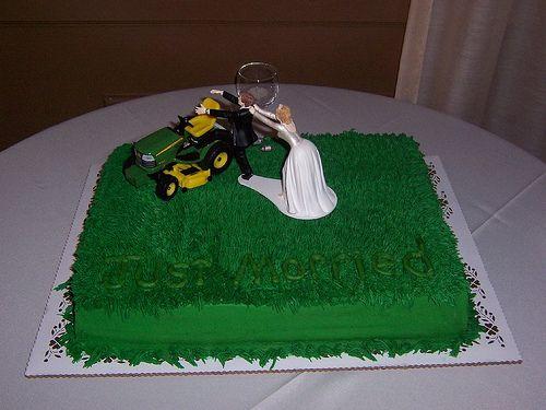 Lawnmower Wedding Grooms Cake Just Married Wedding