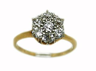 You'll do. Diamond cluster ring from Cynthia Findlay Estate & Vintage Jewelry. $2,650.