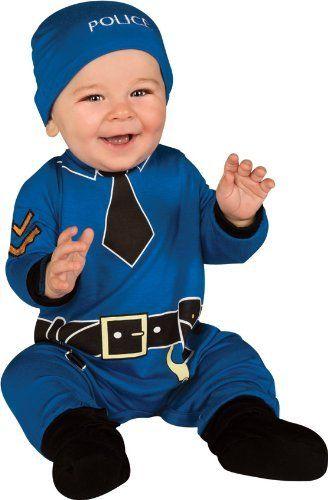 Costume pour nouveau-né 'police'