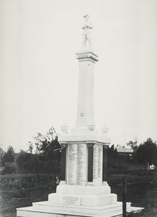 The Boonah War Memorial and Mermorial Park. The photo was taken in 1920.  Tulliah
