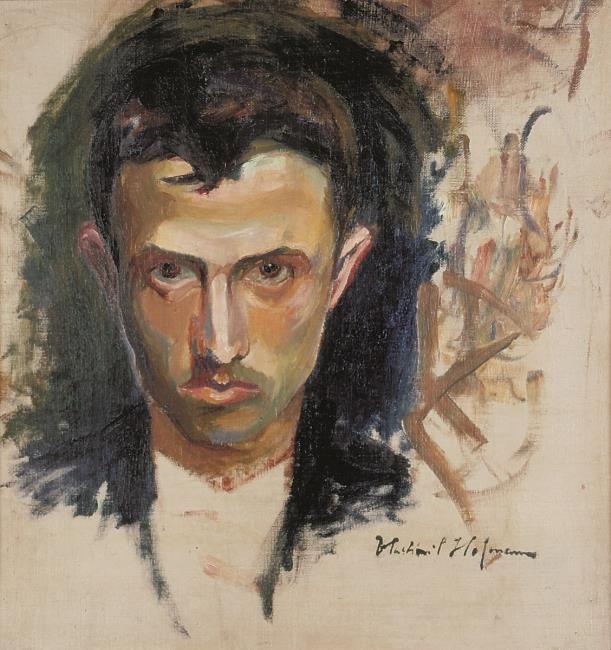 Vlastimil Hofman self-portrait after 1900
