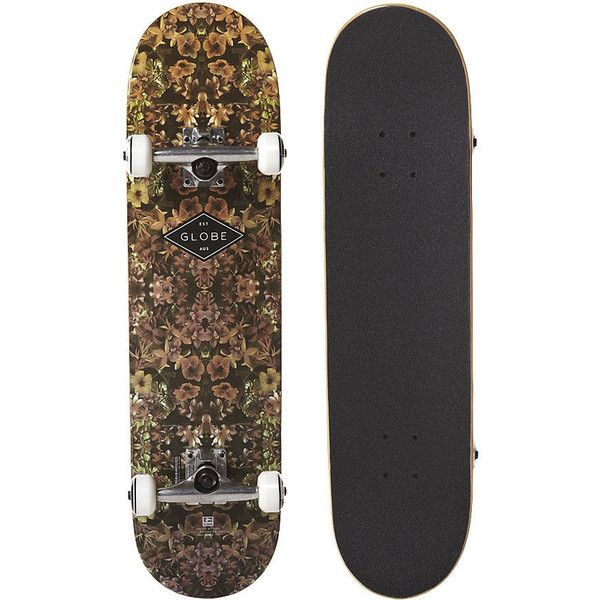 Globe Full On Dead Flowers 7.9in x 31.25in Complete Skateboard ❤ liked on Polyvore featuring accessories, other and skateboards