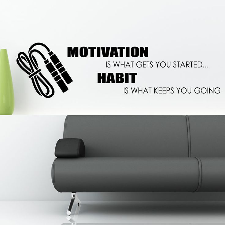 Habit Is What Keeps You Going Wall Sticker Decal Weights Sport Quote W139 Part 73