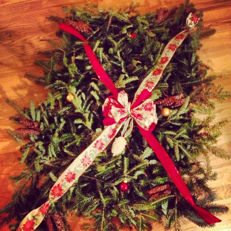 Diy Christmas Grave Decorations: Grave Blanket. Homemade Christmas Decoration. Made With