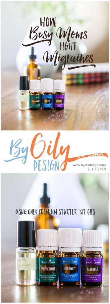 Suffer from Migraines and headaches? Fight back with essential oils. Busy mom's ease symptoms with this powerful Migraine and headache roller using Peppermint, panaway and lavender. All Young living starter kit oils. byoilydesign.com YL member # 3177383