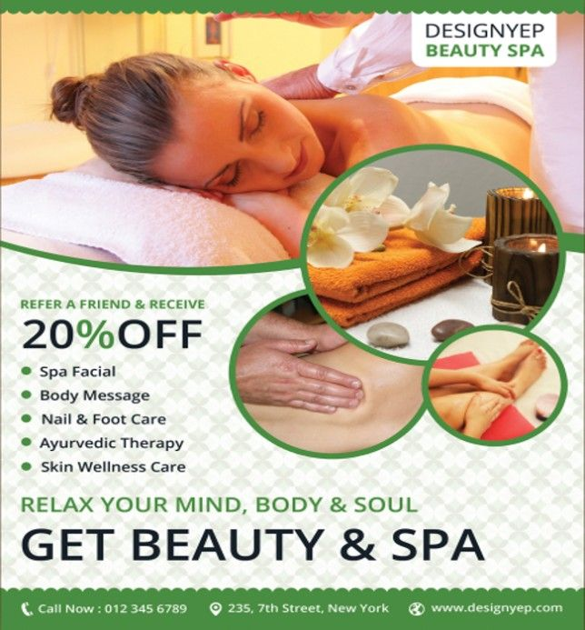 Best Spa Flyer Images On   Beauty Spa Flyer Template