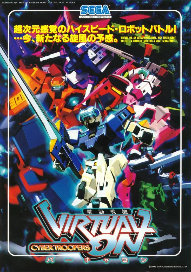 The Arcade Flyer Archive Video Game Flyers Virtual On