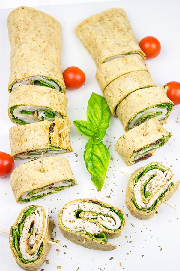 Adults need snacks, too! These quick and easy Turkey Pesto Pinwheels are the perfect way to beat that mid-afternoon hunger strike!