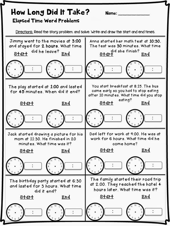 Telling Time Craftivity And Resources Time Word Problems Elapsed Time Word Problems Telling Time Activities