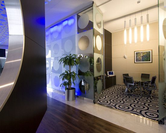Ultra Modern Interior Design With Sleek And Glossy Touches Striking Contemporary Office Space