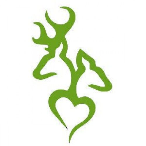 deer head logo | Browning Deer Head Heart Logo Style #2(Decal will come in LIME GREEN ...