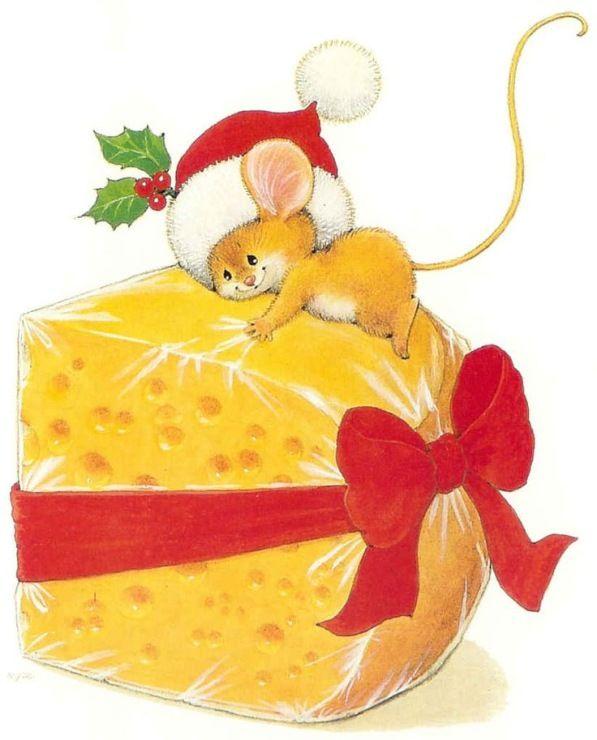Новый год мышь открытки, любовные ночь