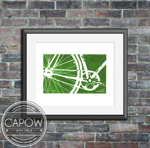 bicycle bike art print  MORE COLORS AVAILABLE bicycle by CAPow, $15.00