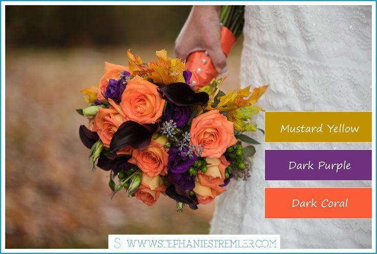 Color Scheme Ideas for Fall Weddings | Fall Wedding Planning | Fall Wedding Color Schemes | http://stephaniestremler.com/blog