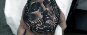 Grasp ink religious inspiration with top 20 best Jesus hand tattoo designs for men. Explore cool portrait and cross Christian body art ideas.