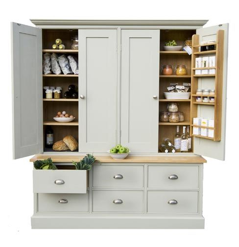Larder Cupboard. Would love one of these in my enormous fantasy kitchen!