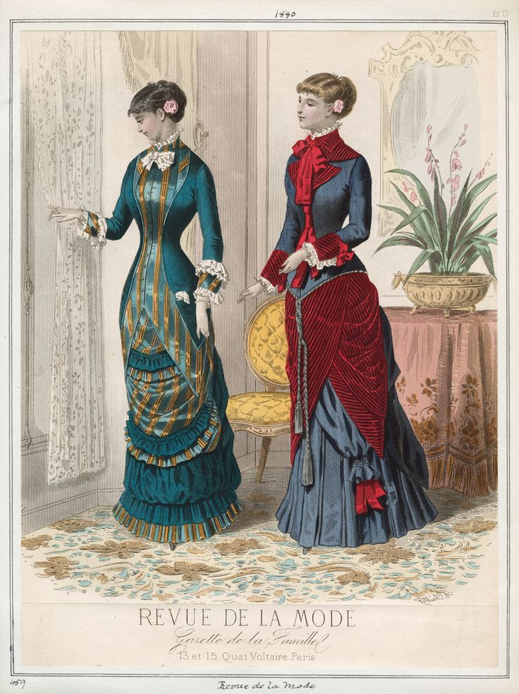 Casey Fashion Plates Detail 1879   Los Angeles Public Library
