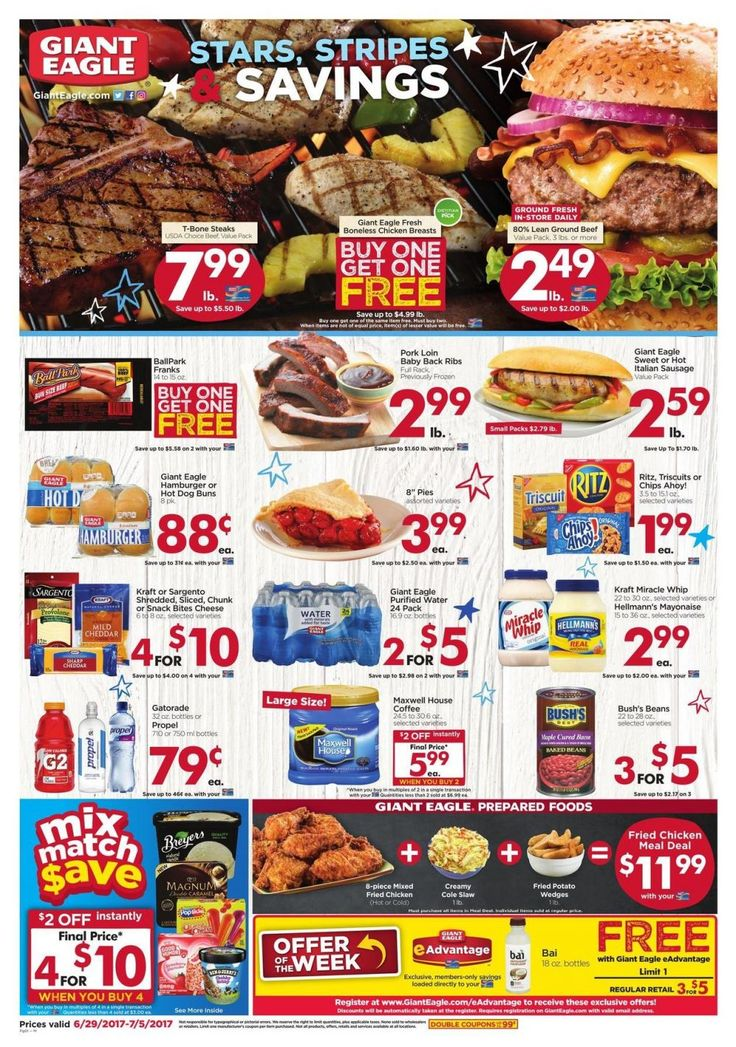 Giant Eagle Weekly Ad Circular June 29 - July 5 United States #grocery savings #GiantEagle