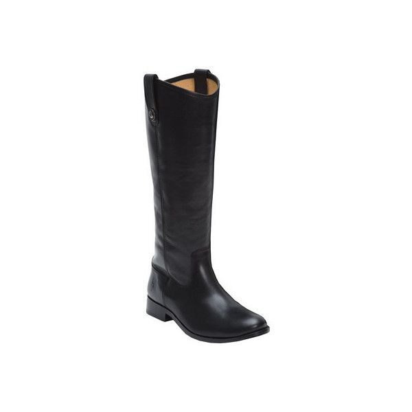 Women's Frye Melissa Button WIDE CALF ($221) ❤ liked on Polyvore featuring shoes, boots, casual, riding boots, tall boots, black boots, motorcycle riding boots, black riding boots and wide calf leather boots