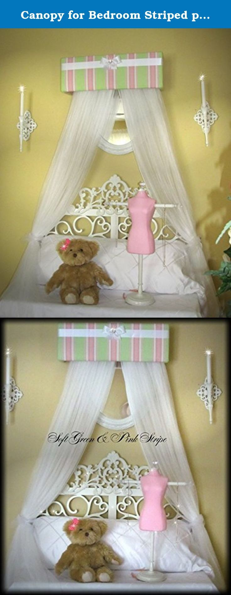 Crib for sale davao - Canopy For Bedroom Striped Pink Greens White Curtains Sale Nursery Bed Crib So Zoey Boutique