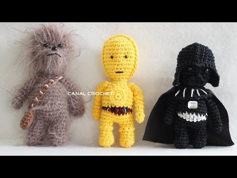 Ganchillo. Muñeco Yoda de La Guerra de las Galaxias. Parte 1 - YouTube