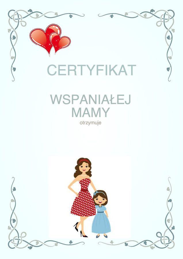 Dzień Matki;: Dyplomy i certyfikaty do druku 8