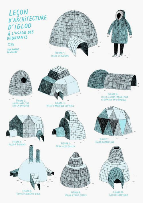 igloos, amelie fontaine