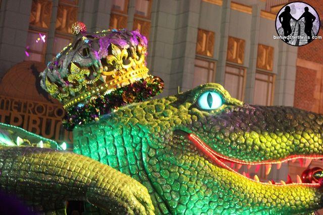 Mardi Gras Float Silhouette