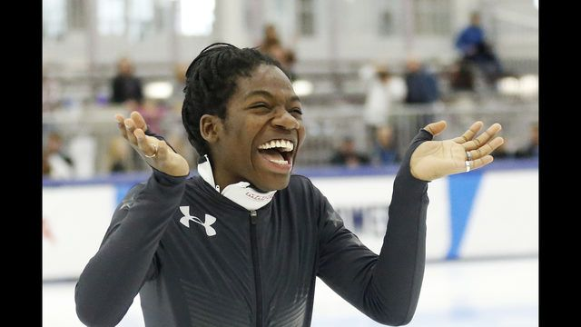 KEARNS, Utah (AP) - Maame Biney became the first black woman to qualify for a U.S. Olympic speedskating team with a pair of victories in the 500 meters.