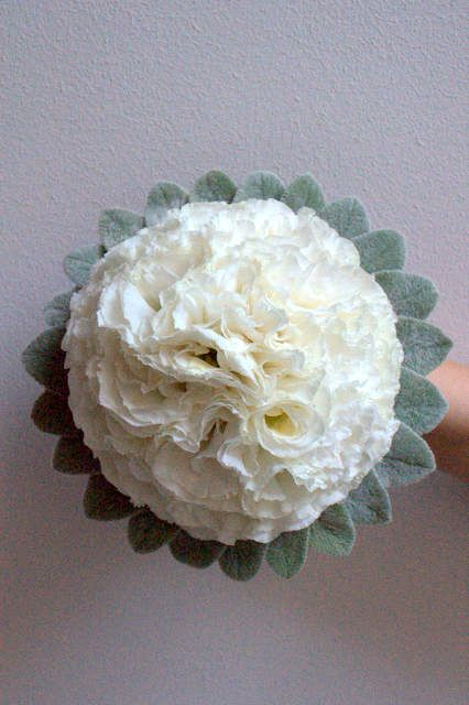 White Lisianthus bouquet - designed by Arioso