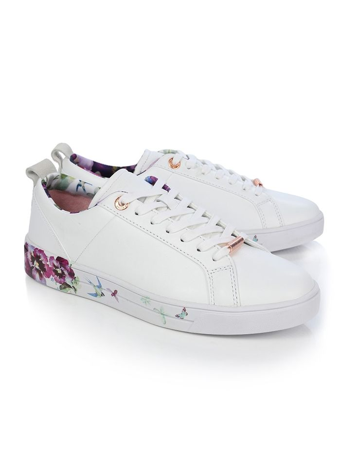 The Barrica printed trainer from Ted Baker are a must have which hit all the big trends this season has in store: athleisure, floral and monochrome.