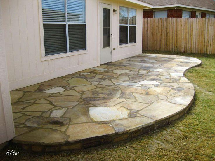 Flagstone Patio Over Old Concrete Porch Outdoor Decor