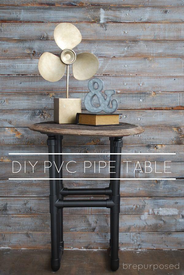DIY PVC Pipe Table :: Monthly DIY Challenge - brepurposed
