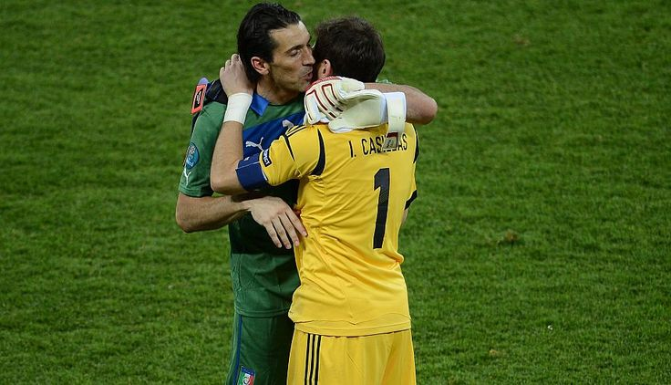 Buffon y Casillas Euro 2012