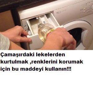 Çamaşırlar için mutlaka bunu kullanın!Lekelerden ,çamaşırlarınızın rengini korumaya kadar etkili bu madde evinizde olmalı