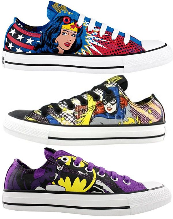 .Converse + DC Comics.Converse All Stars, Batgirl Shoes, Batgirl Converse, Dc Comics, Dccomics, Convers All Stars, Girls Shoes, Wonder Woman, Athletic Shoes