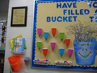 Classroom bucket filling display/ cup for each student