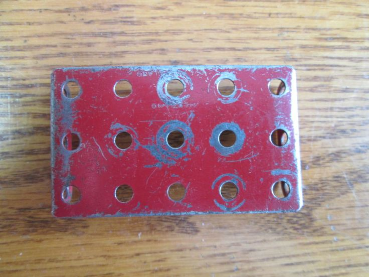 Meccano Part # 51 Red Flanged Plate 2.5 x 1.5 inch Used Vintage #Meccano