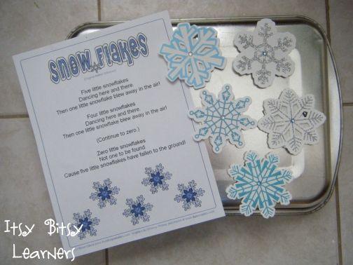 5 Little Snowflakes Poem