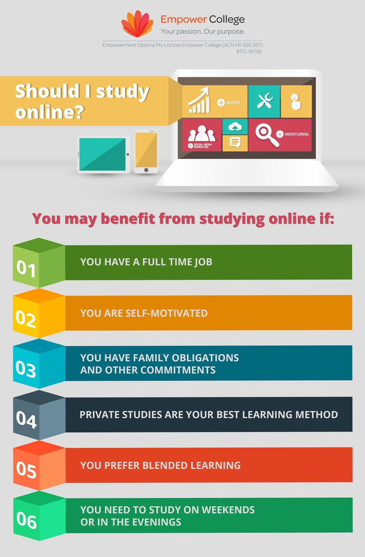 Thinking about studying online? Here are 6 reasons why online study is the right choice for you! #online #study #studyoptions #empowercollege