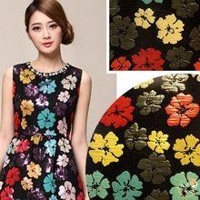Kleurrijke bloemen high-end modestoffen jacquard brocade jurk stof doek Width145cm-100 cm mantel naaien materiaal(China (Mainland))